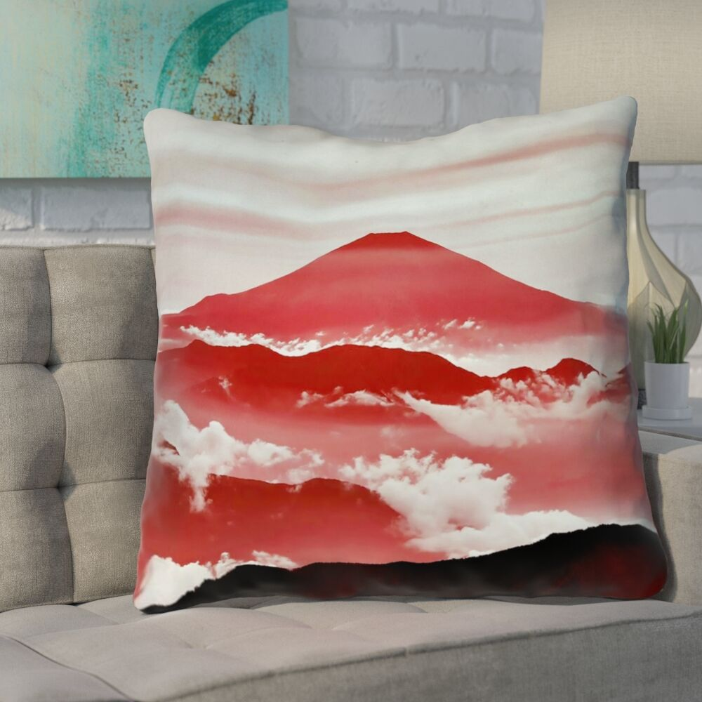 Enciso Fuji Square Throw pillow Size: 16