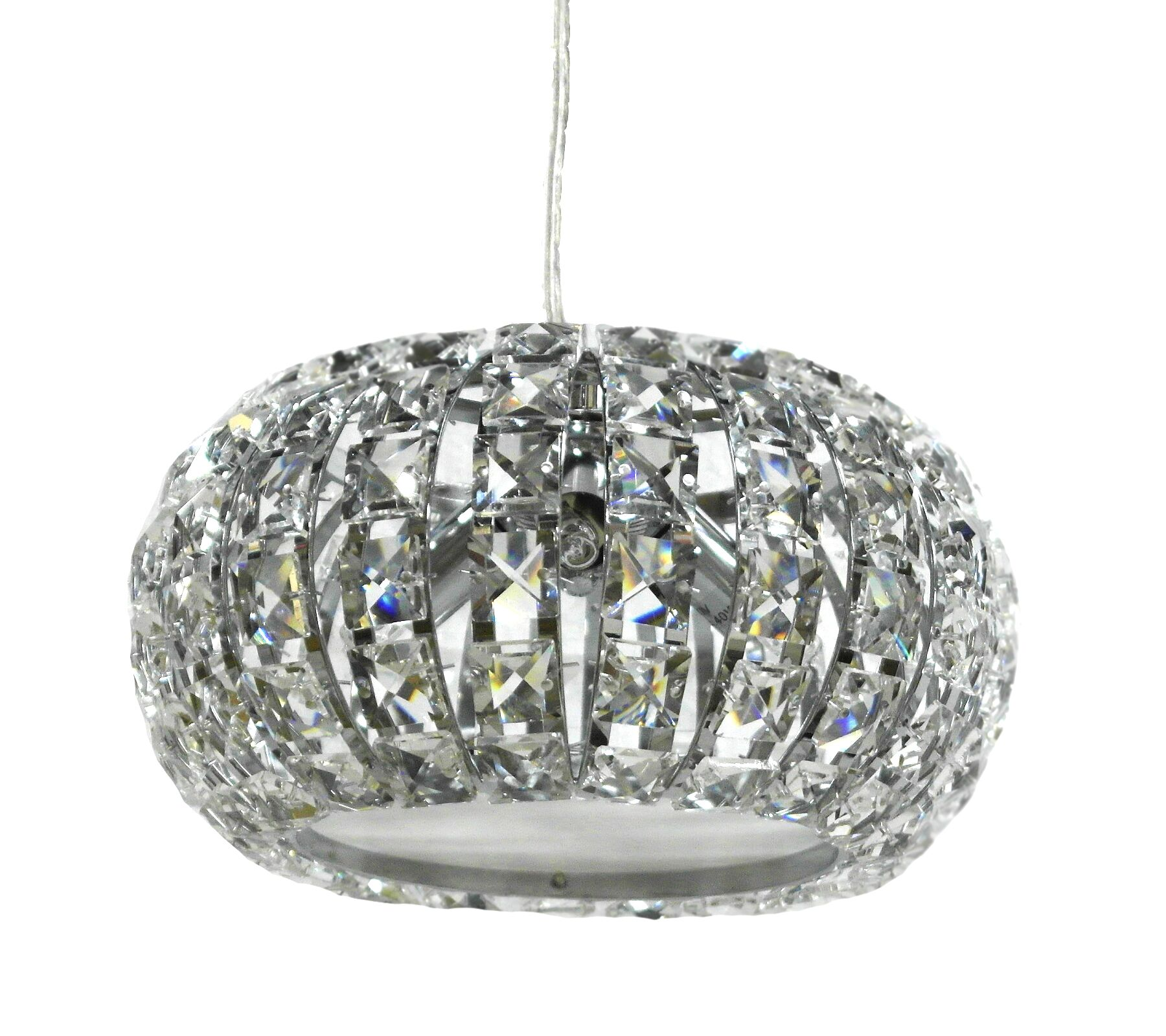 Pamrapo 3-Light Crystal Pendant