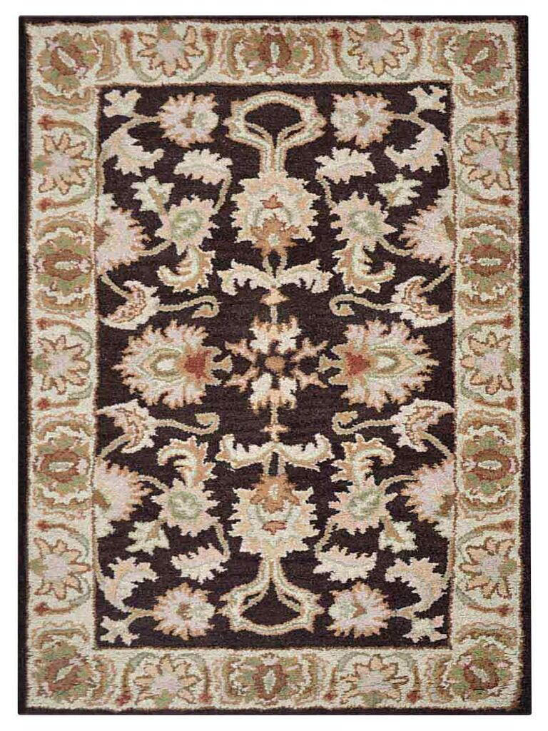 Creamer Hand-Tufted Brown/Beige Area Rug Rug Size: Rectangle 5' x 8'