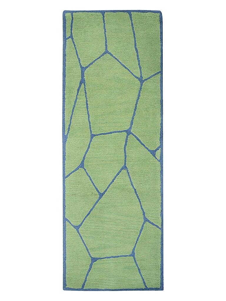 Freida Hand-Tufted Green/Blue Area Rug Rug Size: Runner 2'6