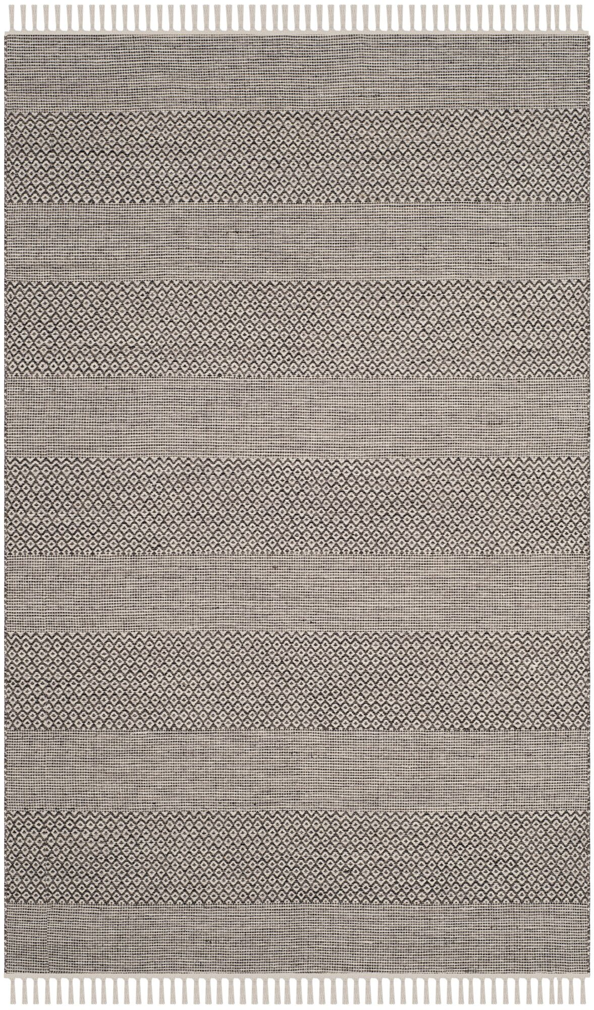 Oxbow Hand-Woven Ivory/Anthracite Area Rug Rug Size: Rectangle 6' x 9'