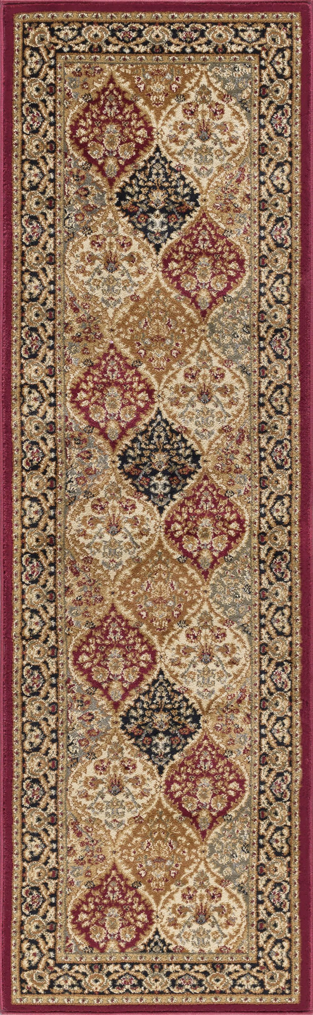 Clarence Red/Beige Area Rug Rug Size: 2'3'' x 10'