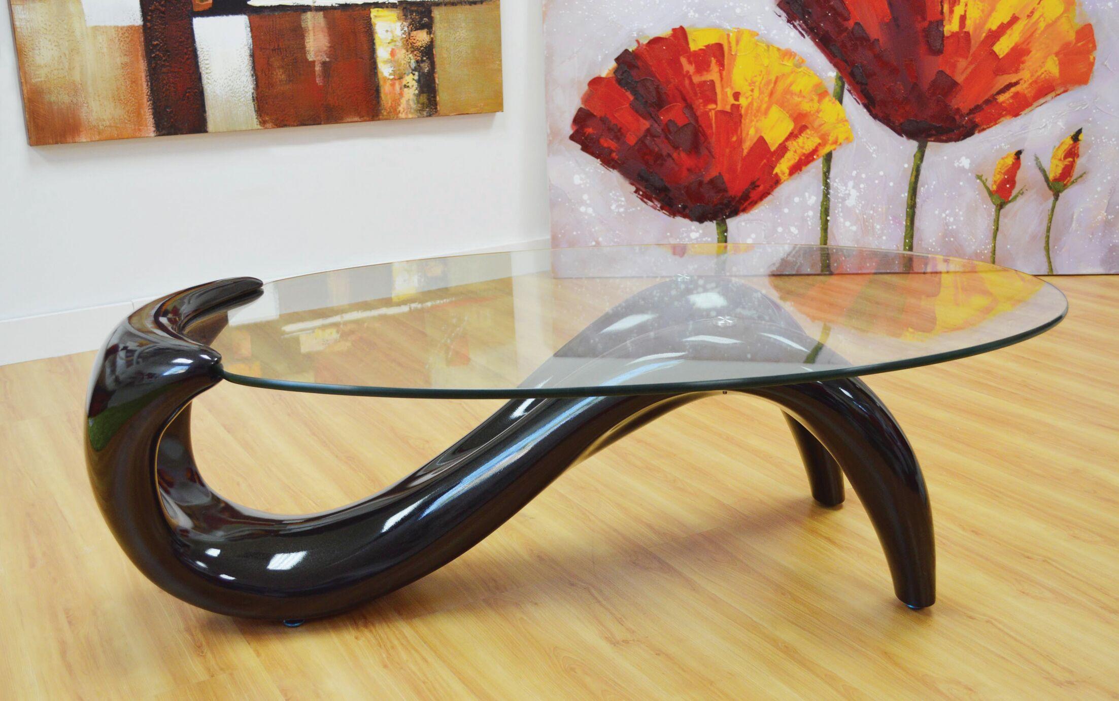 Delphinia Coffee Table Table Base Color: Black