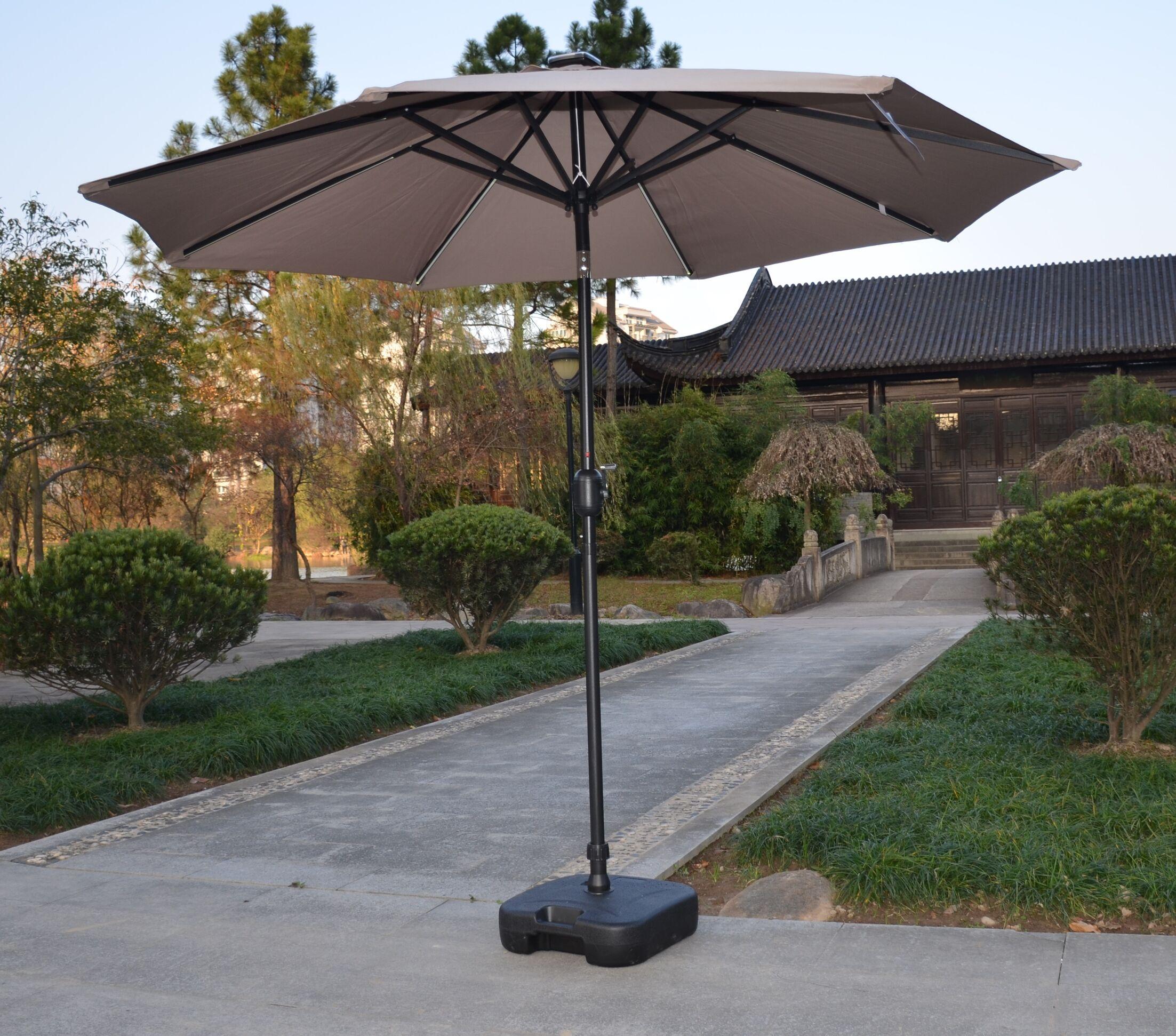 Hurst 10' Market Umbrella Fabric Color: Taupe