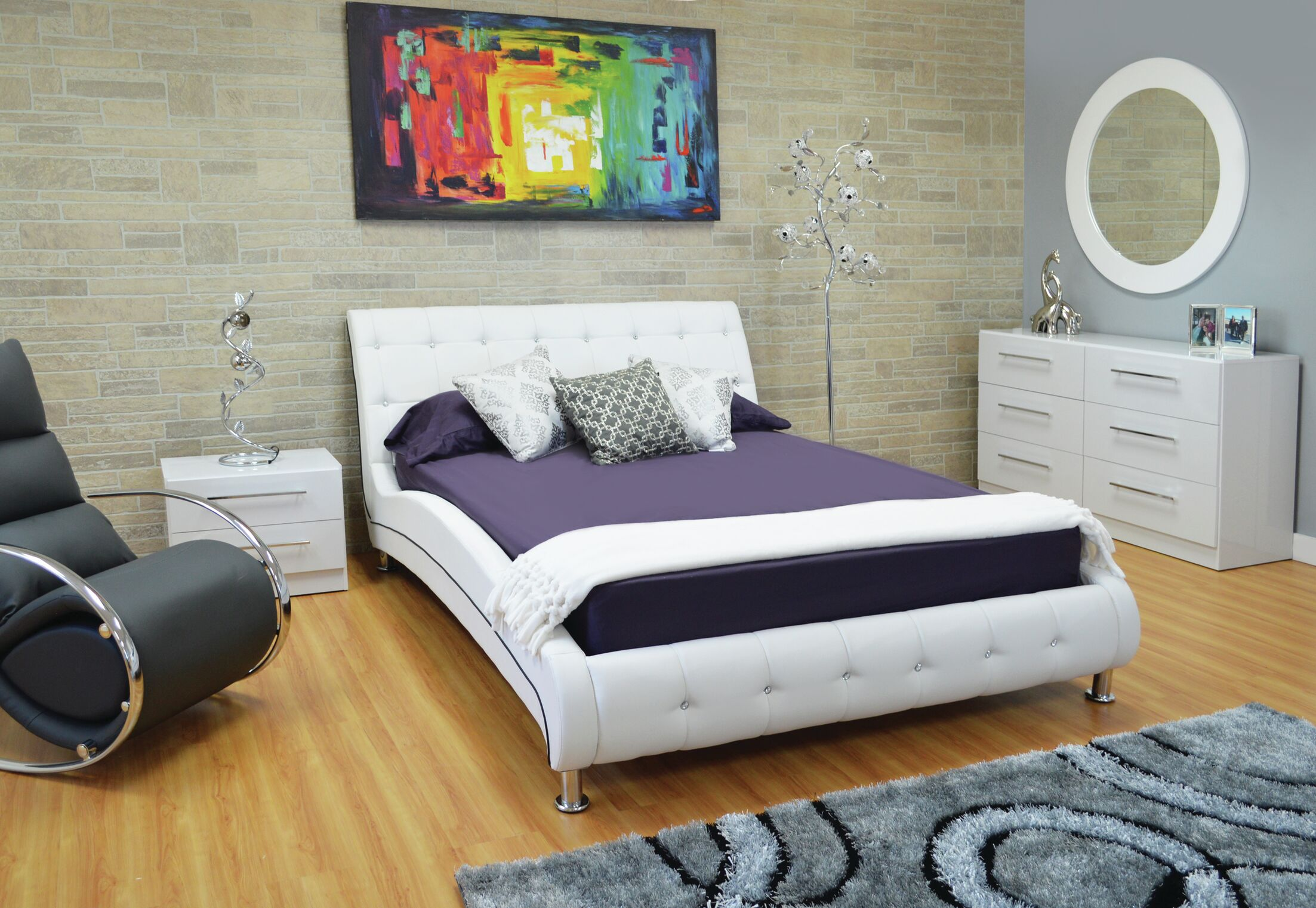 Haskett Upholstered Platform Bed Size: King
