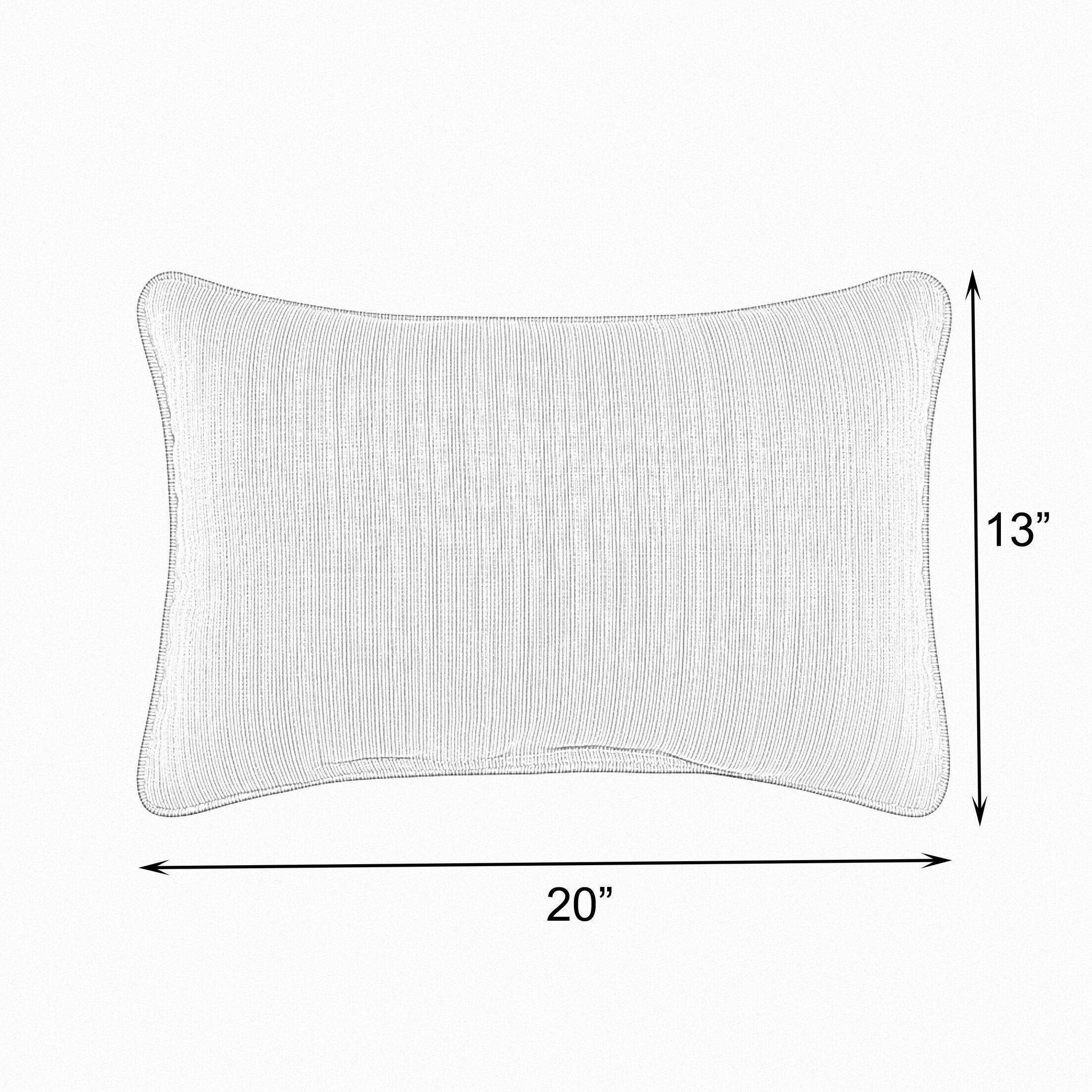 Cox Sunbrella Peyton Granite Outdoor Lumbar Pillow Size: 13