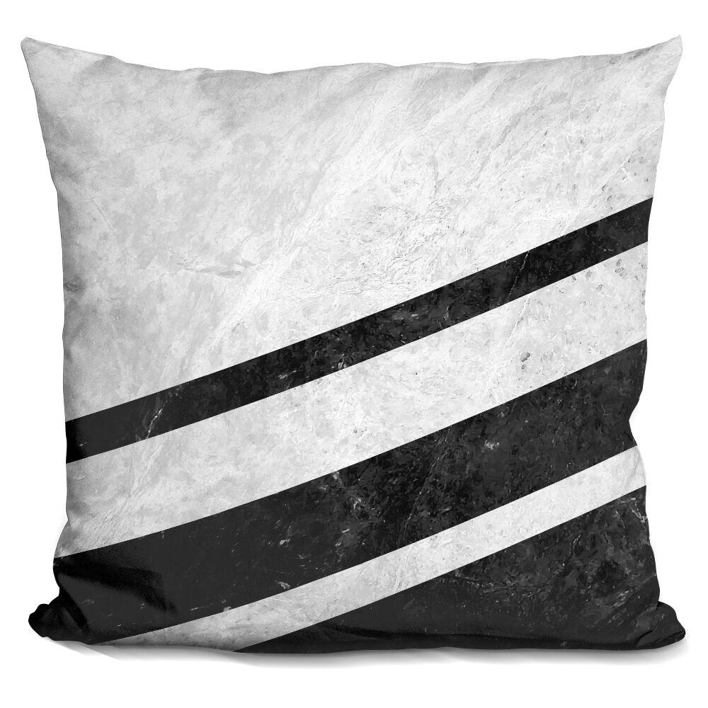Cornejo Striped Marble Throw Pillow