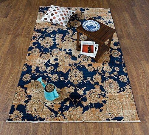 Serina Navy/Ivory Area Rug Rug Size: Rectangle 8' x 10'