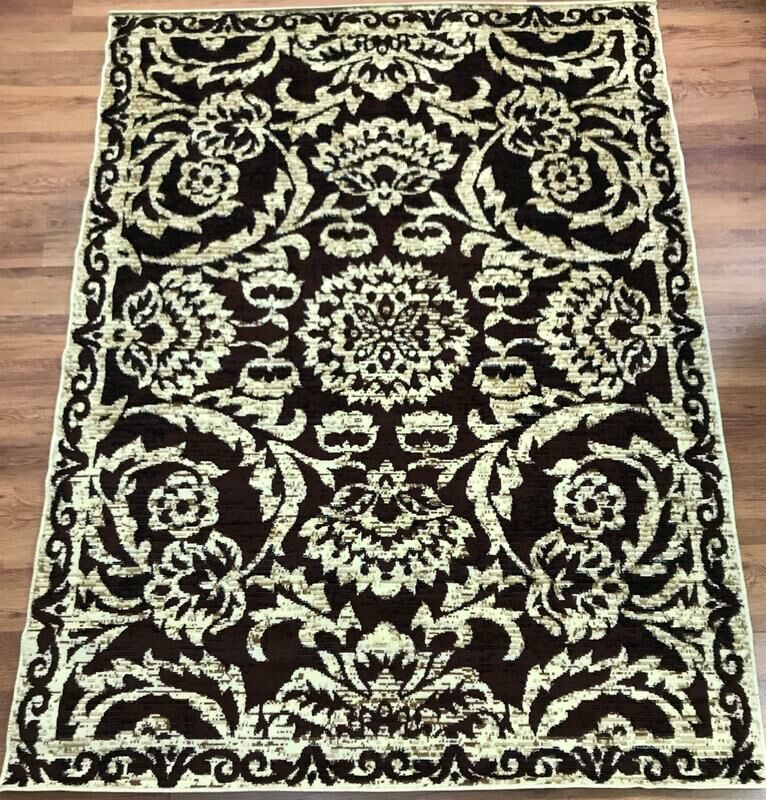 Dunlin Floral Beige/Brown Area Rug Rug Size: Rectangle 8' x 10'