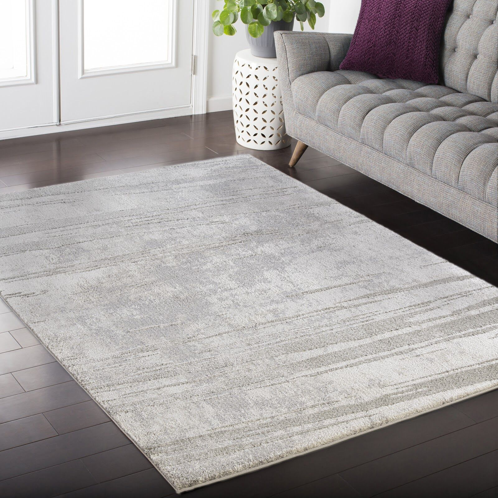 Acuna Gray Area Rug Rug Size: Rectangle 5'2