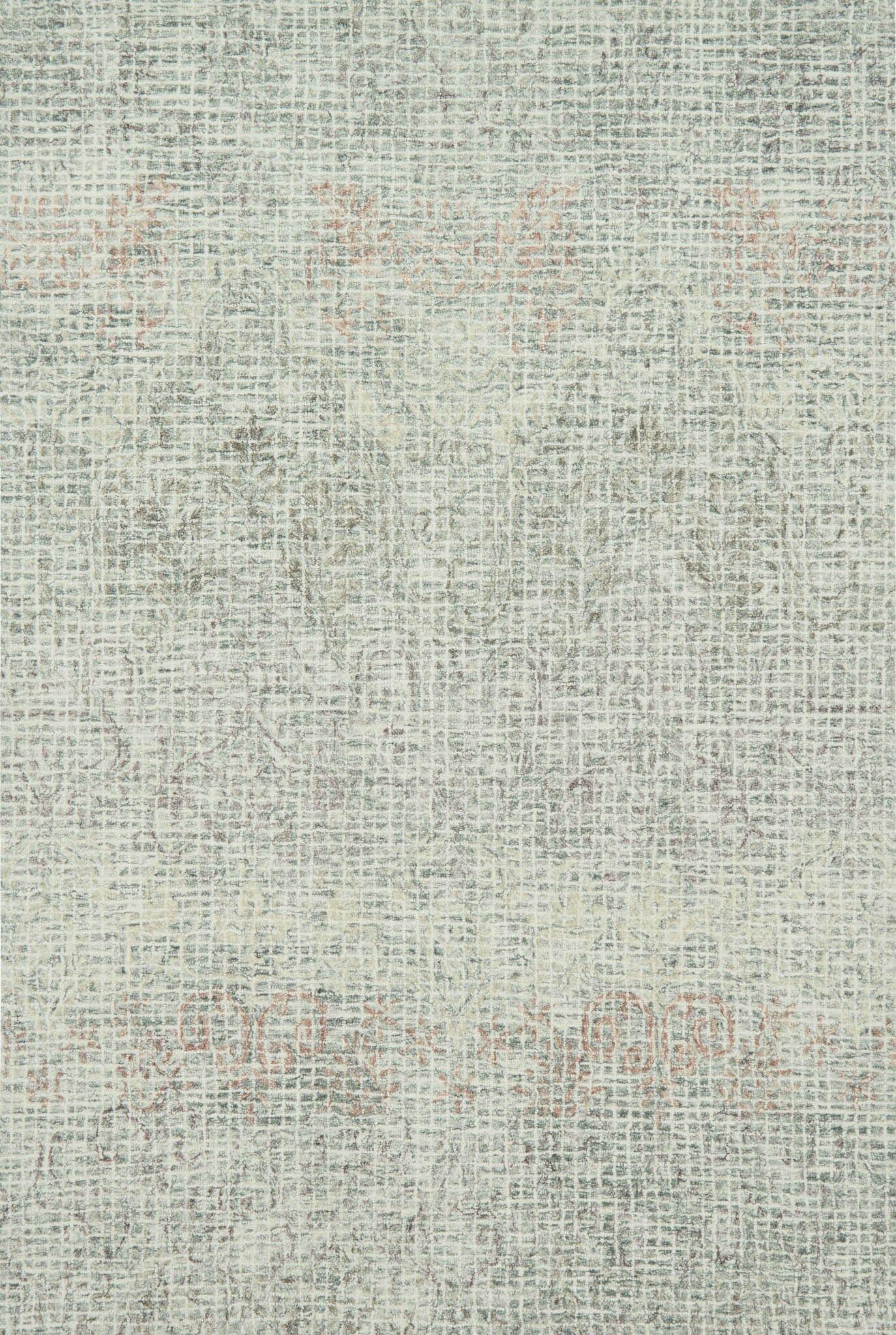 Zeinab Hand Hooked Wool Gray/Blush Area Rug Rug Size: Runner 2'6
