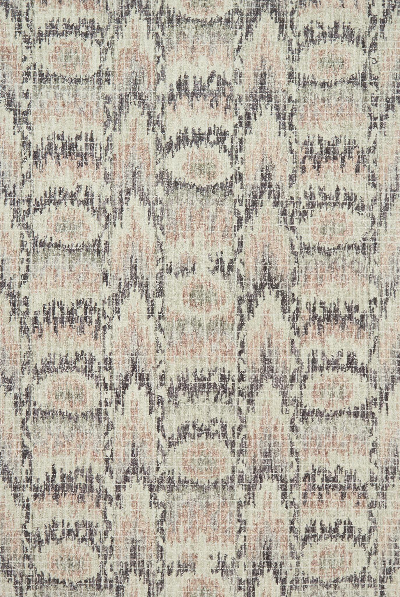 Zeinab Hand Hooked Wool Blush/Rasin Area Rug Rug Size: Rectangle 5' x 7'6