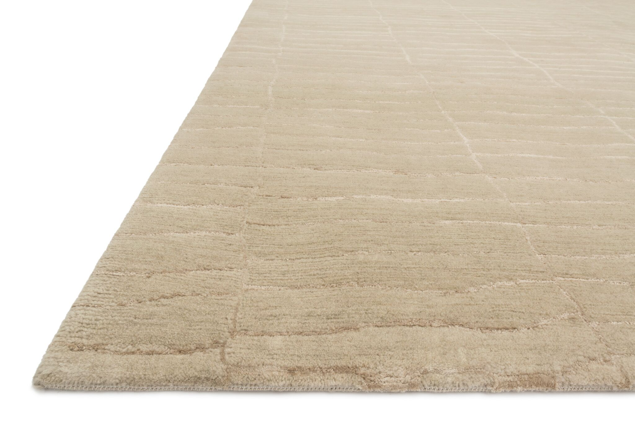 Albinson Hand-Knotted Almond Area Rug Rug Size: Rectangle 5'6