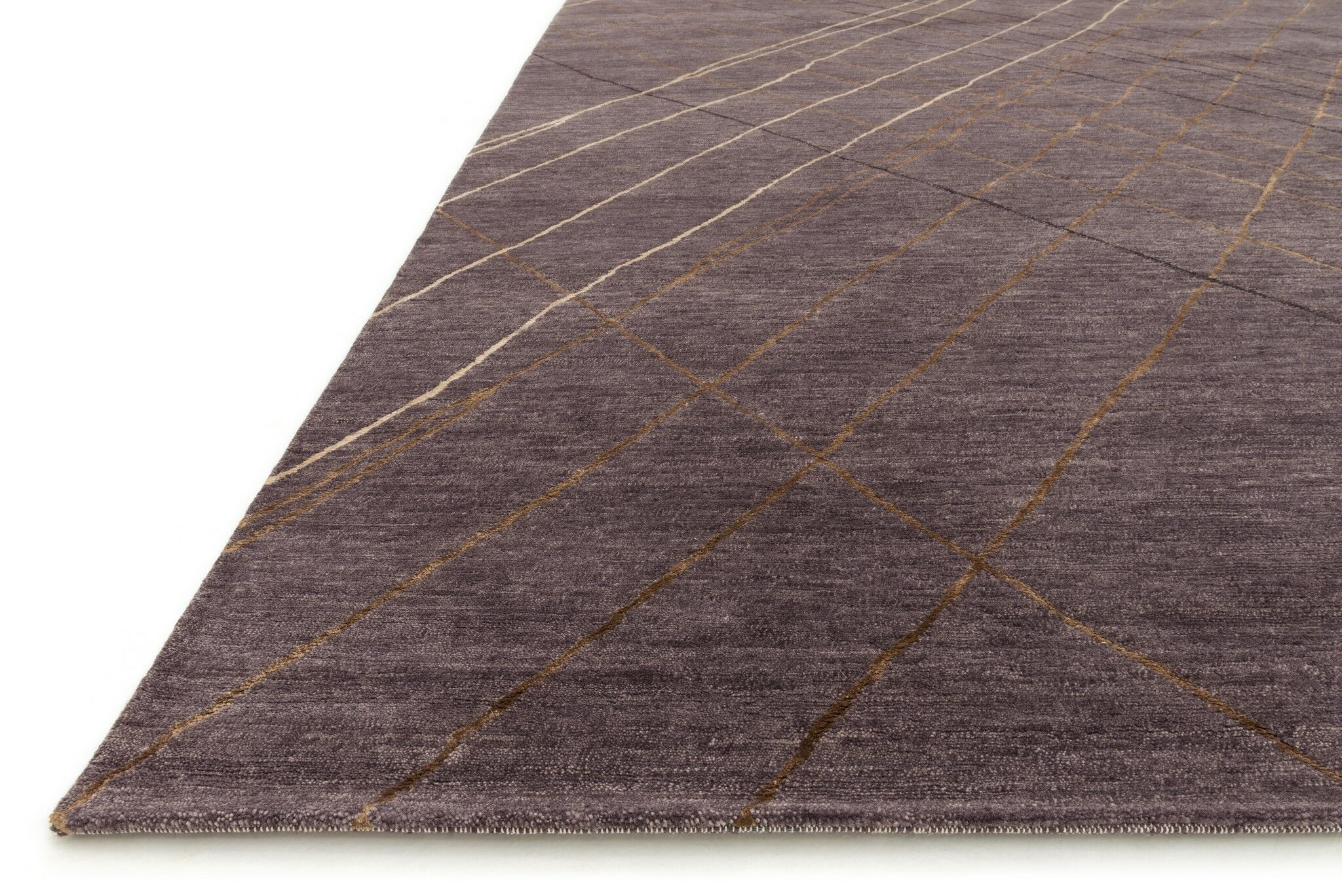 Shofner Hand-Knotted Plum Area Rug Rug Size: Rectangle 7'9