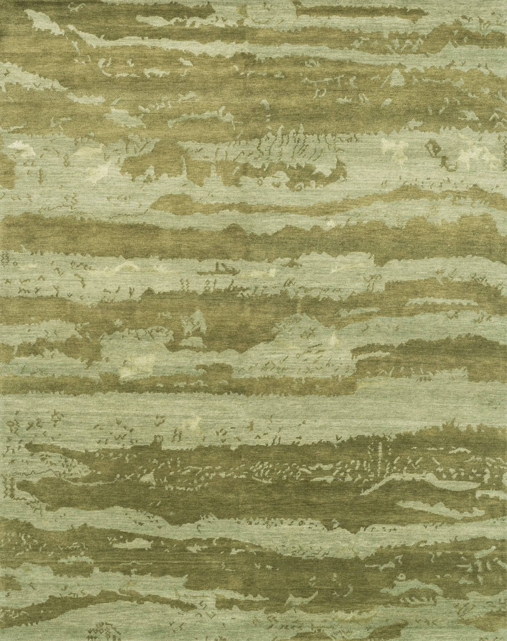 Shaunda Hand-Knotted Sea Foam Green Area Rug Rug Size: Rectangle 2' x 3'