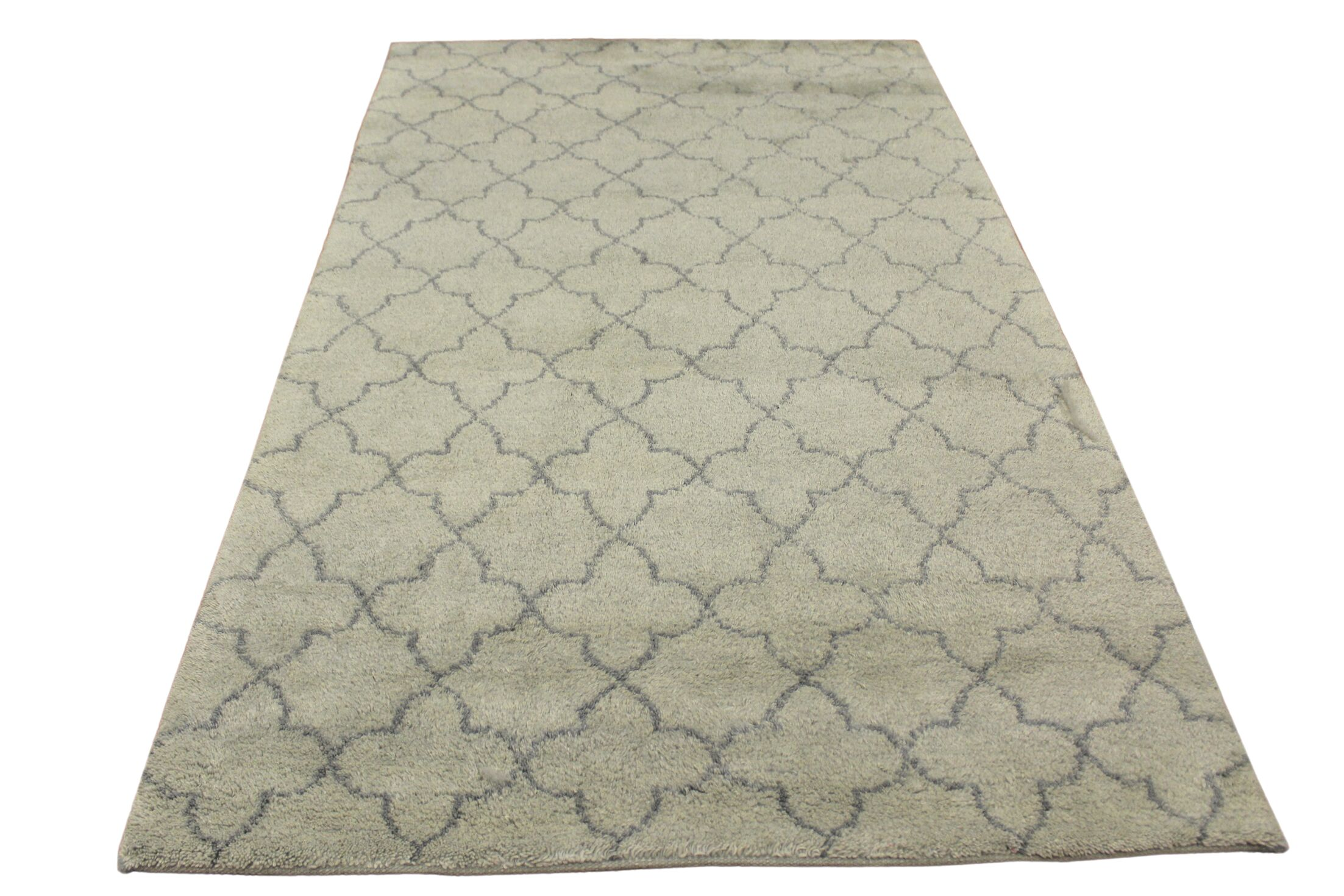 Kirklin Hand Knotted Wool Light Green/Gray Indoor Area Rug Rug Size: Rectangle 5'1