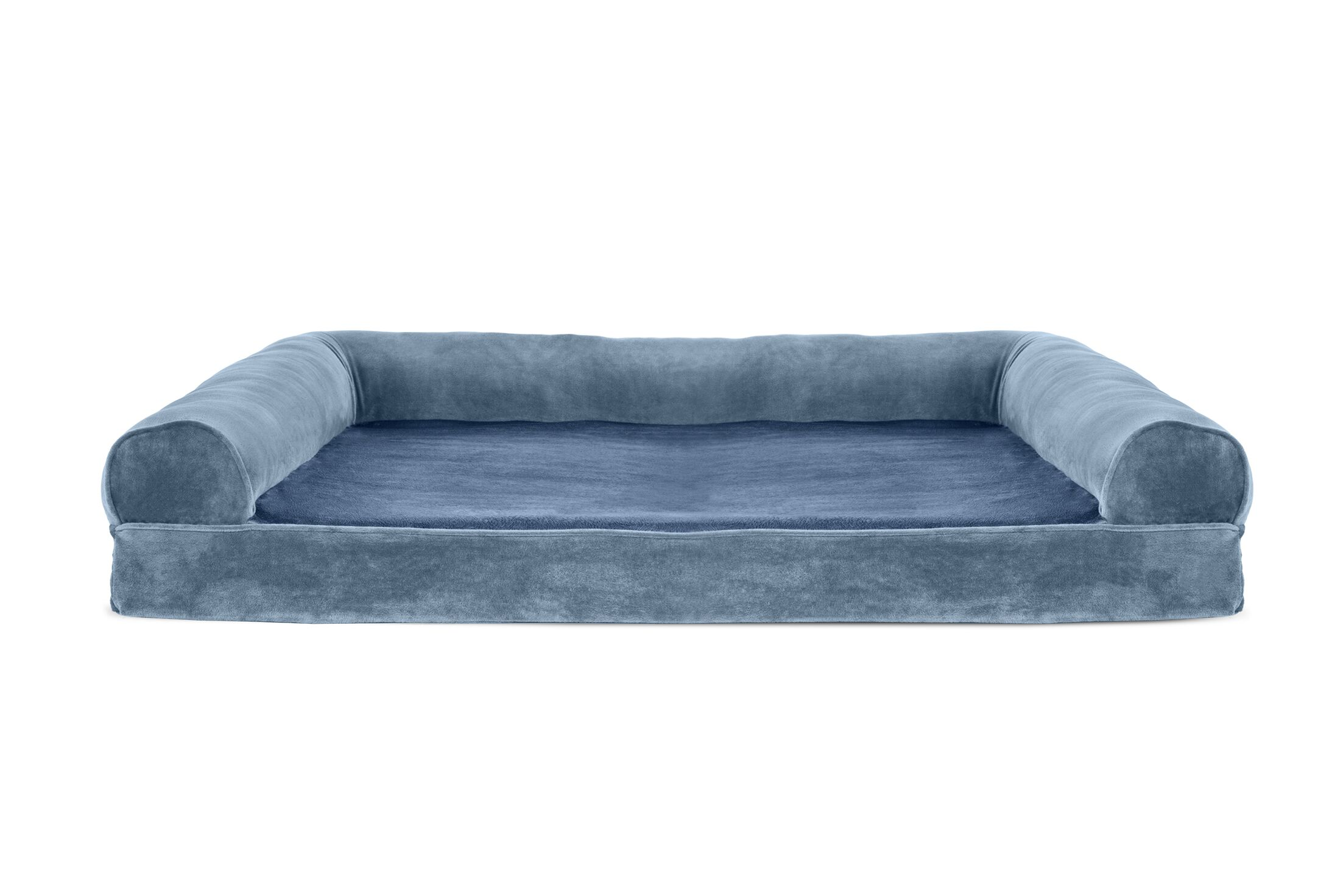 Asberry Faux Fur and Velvet Memory Top Dog Sofa Size: Jumbo (44