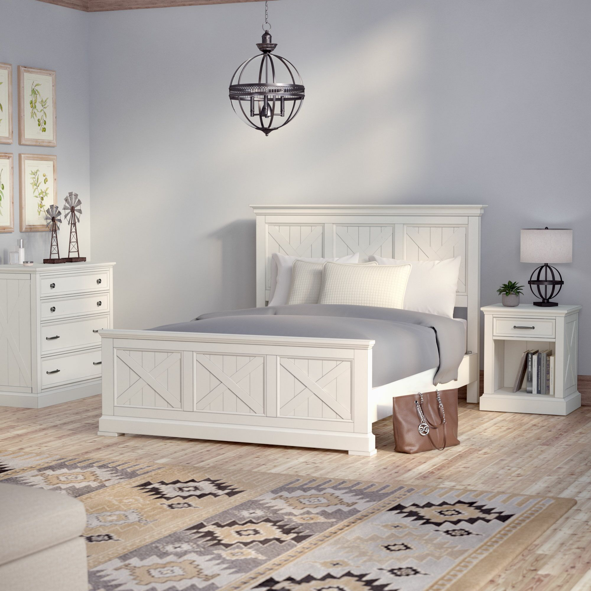 Ryles Panel 3 Piece Bedroom Set Size: Queen