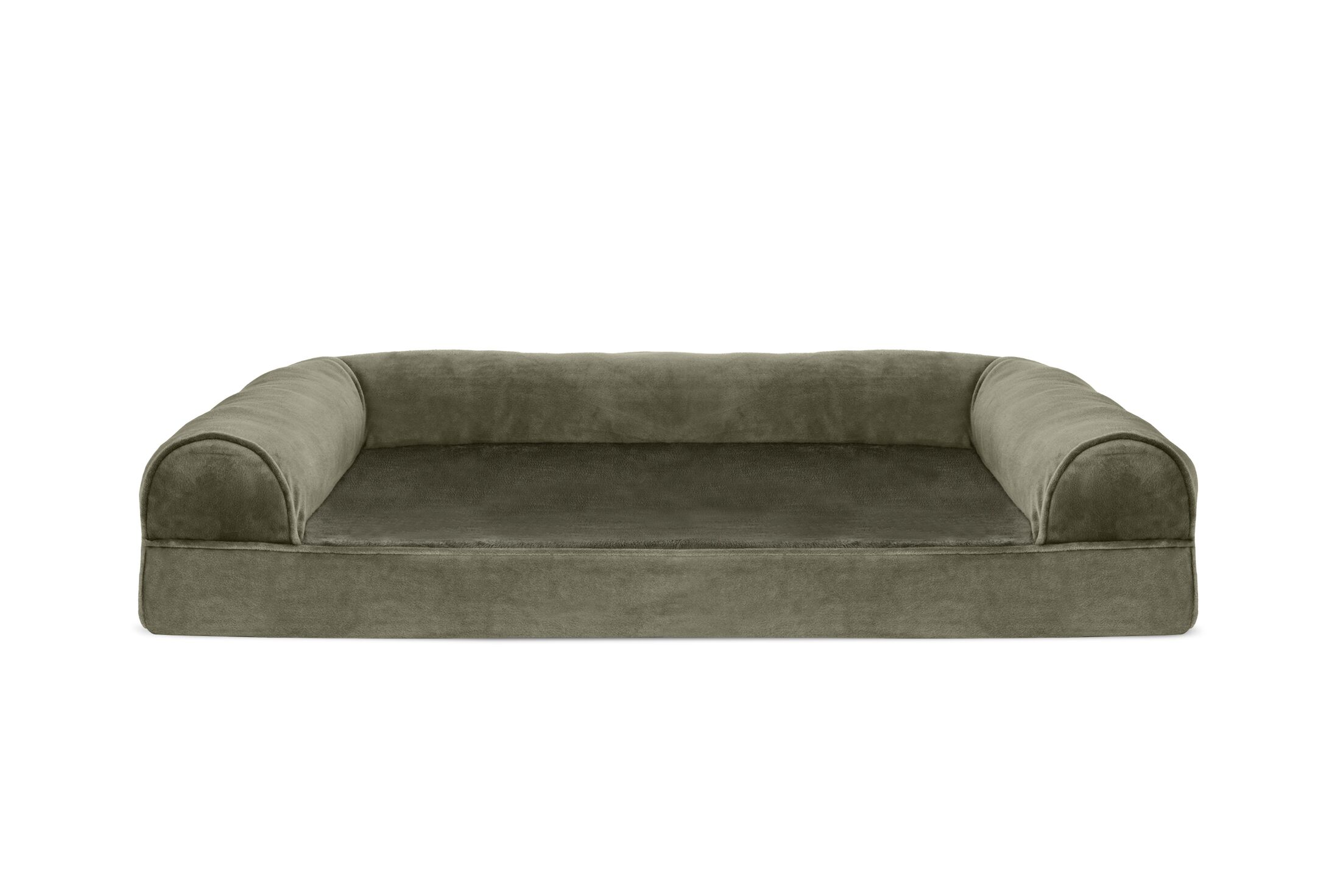 Asberry Faux Fur and Velvet Memory Top Dog Sofa Size: Large (36