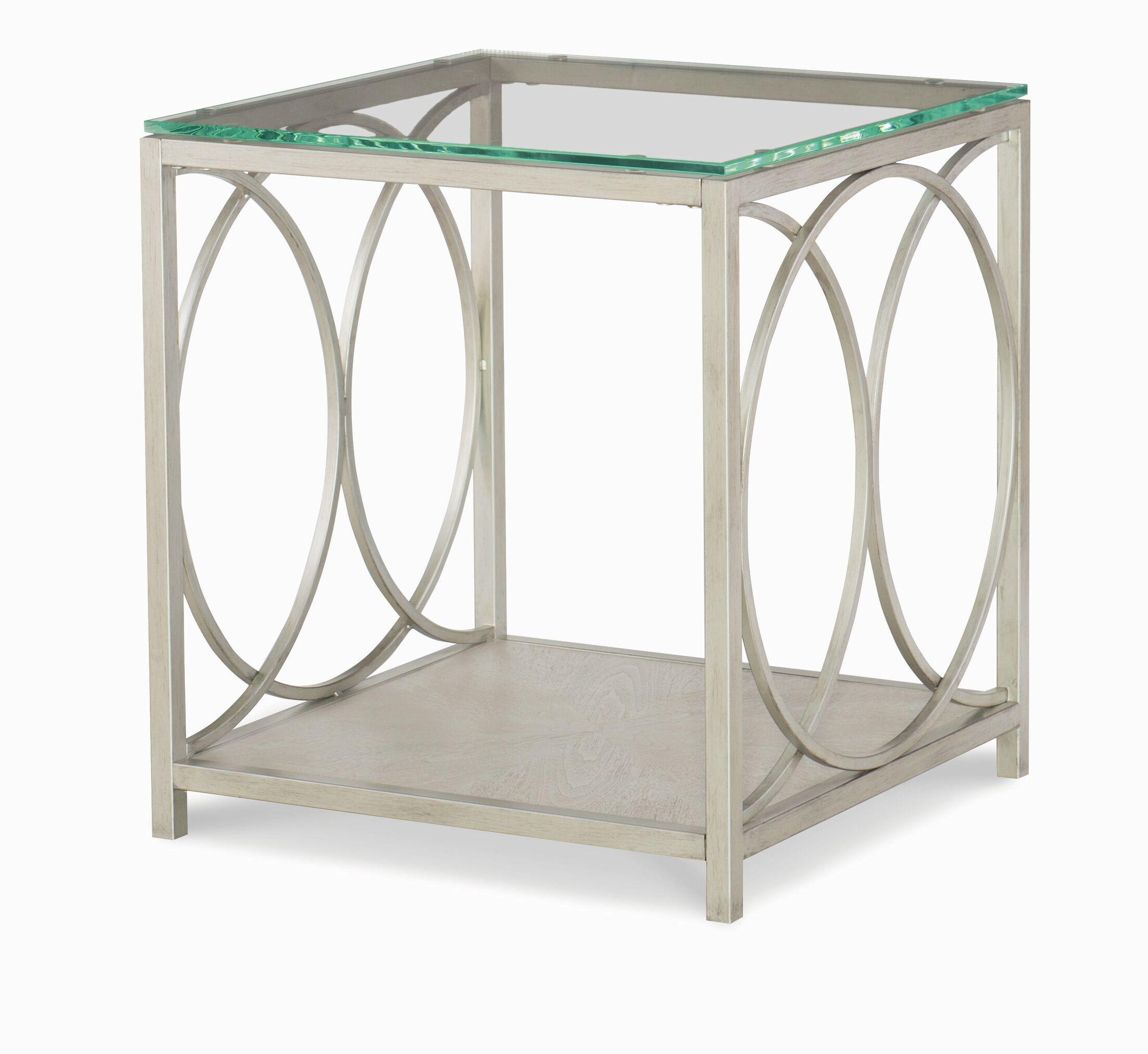 Cinema Glass Top End Table