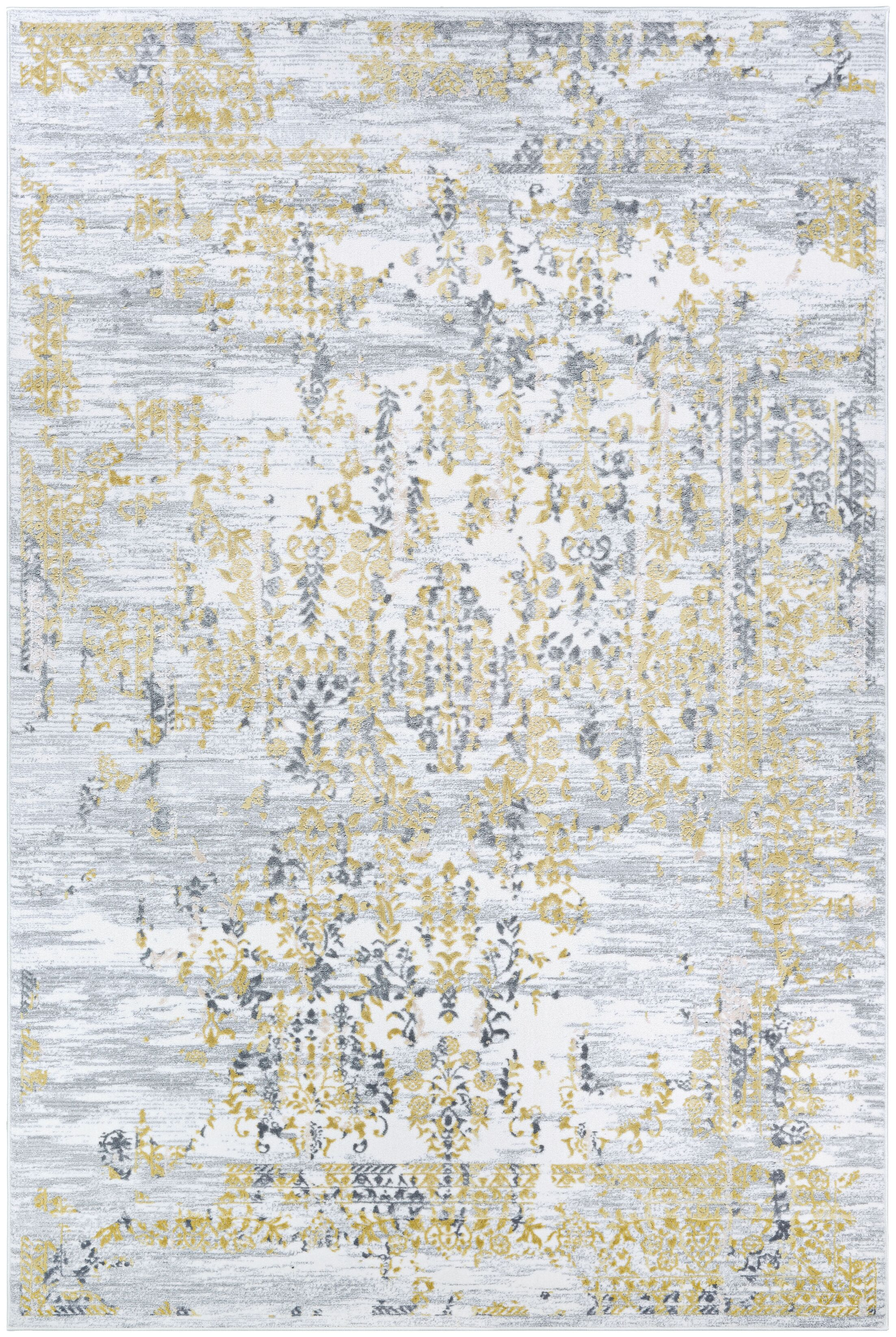Jakes Gold/Silver Area Rug Rug Size: Rectangle 3'3