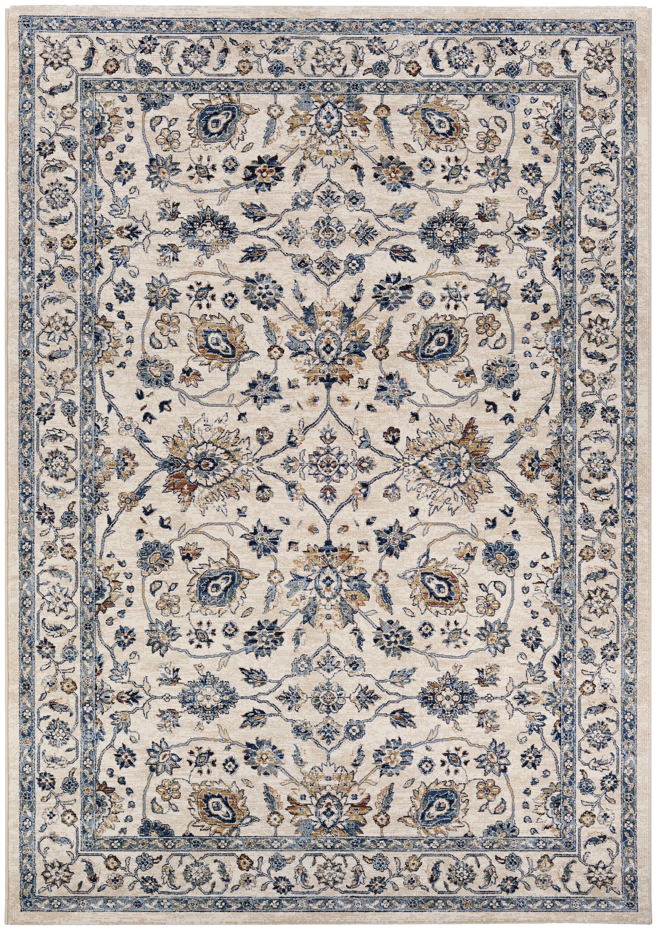 Grimaldo Antique Cream/Slate Area Rug Rug Size: Rectangle 5'3
