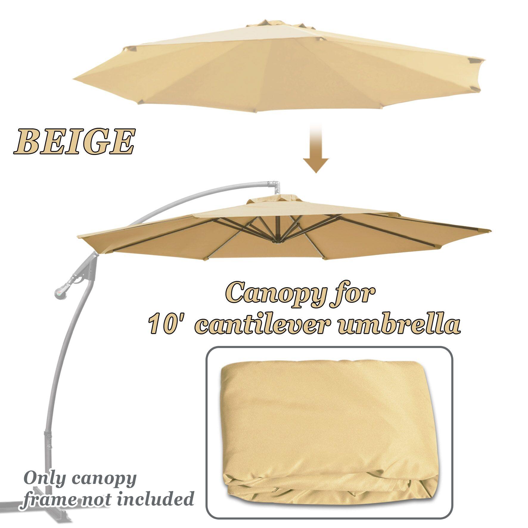 Lochlan 10' Patio Umbrella Cover Color: Beige