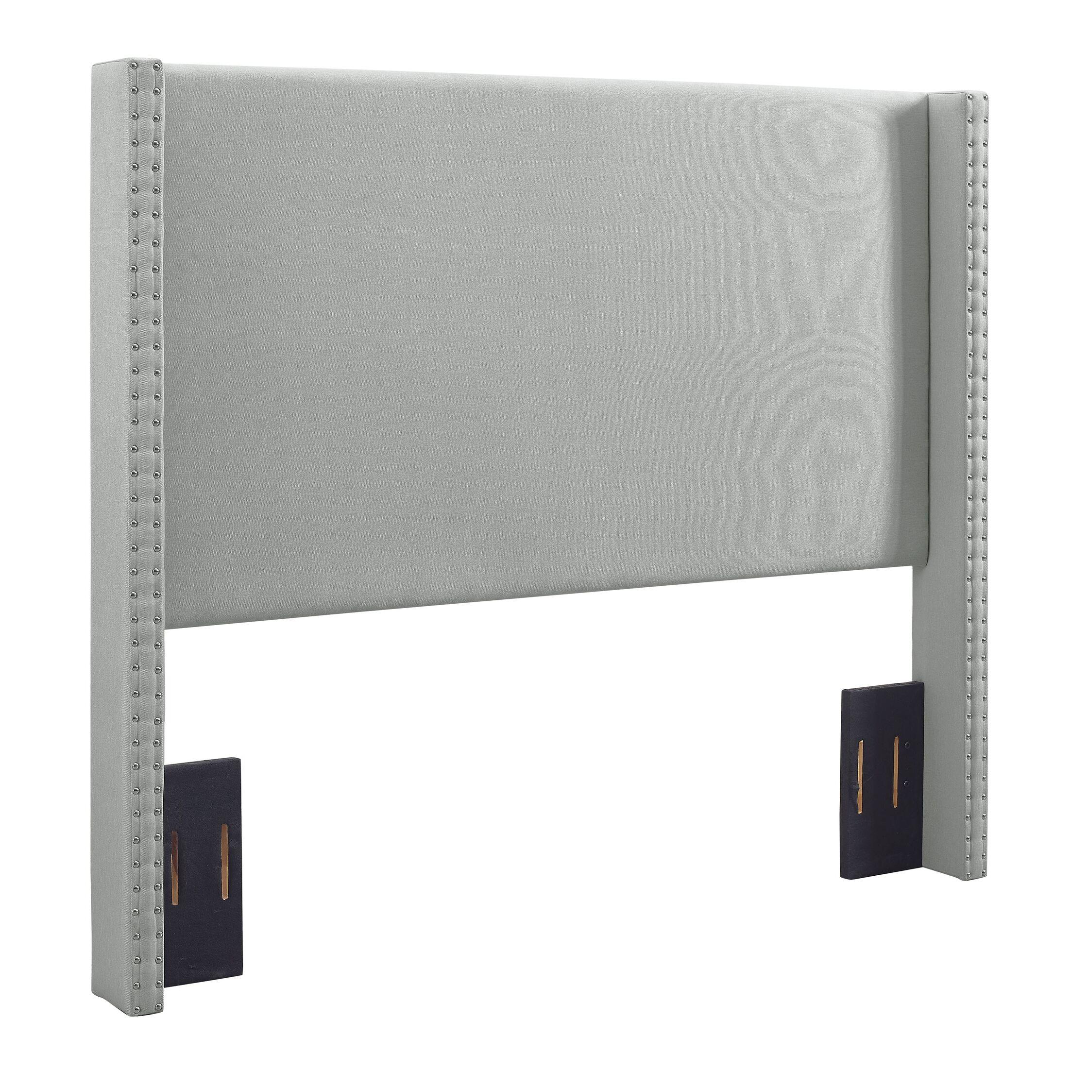 Bentson Upholstered Panel Headboard Upholstered: Dove Gray Linen, Size: King / California King