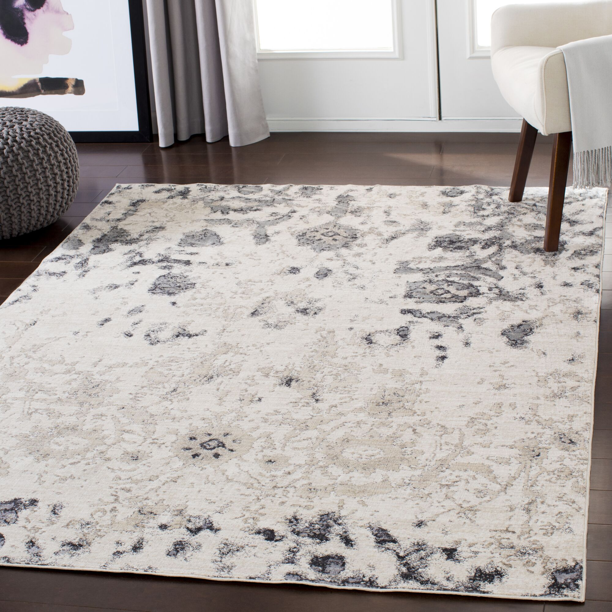 Stephan Distressed Beige/Taupe Area Rug Rug Size: Rectangle 5'3