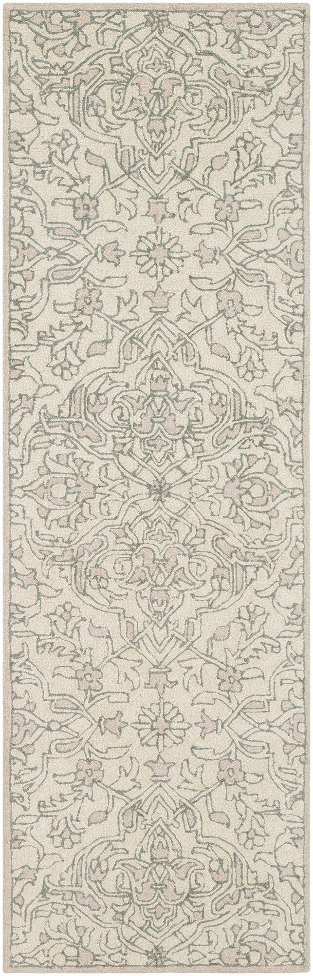 Puttney Hand Hooked Wool Teal/Taupe Area Rug