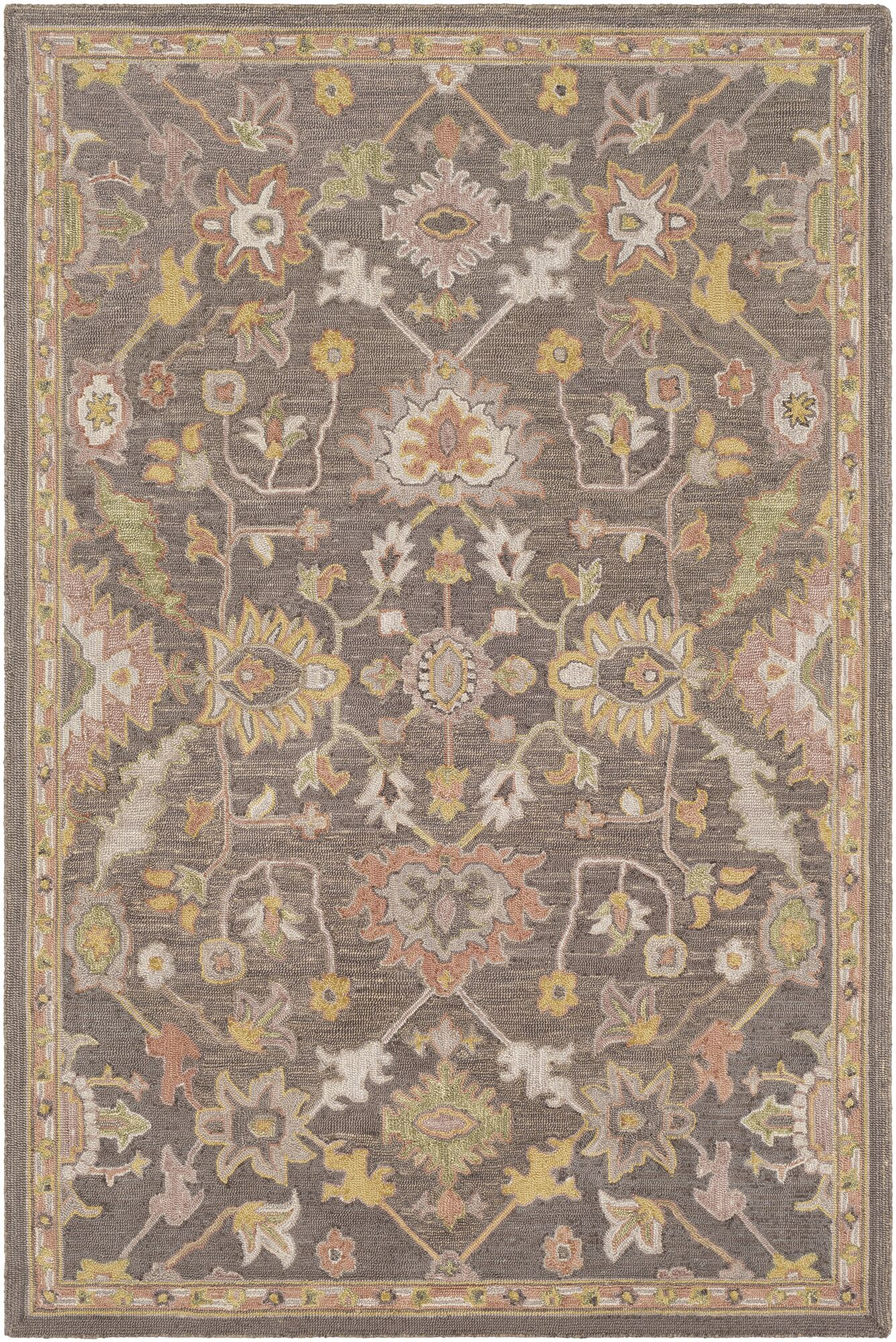 Greater Taree Hand Hooked Wool Camel/Olive Area Rug Rug Size: Rectangle 8' x 10'
