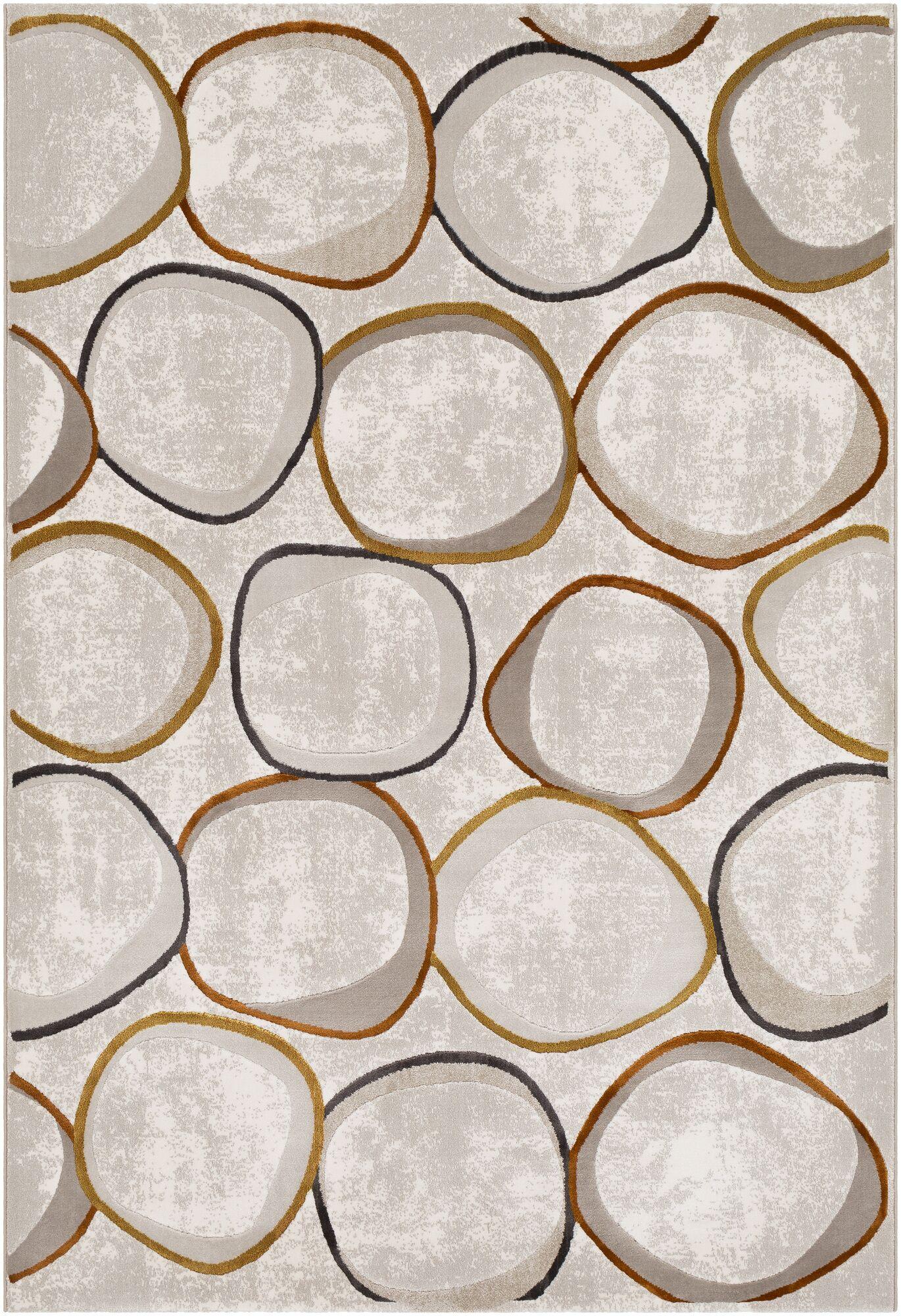 Bilski Modern Orange/Lime Area Rug Rug Size: Rectangle 9'2