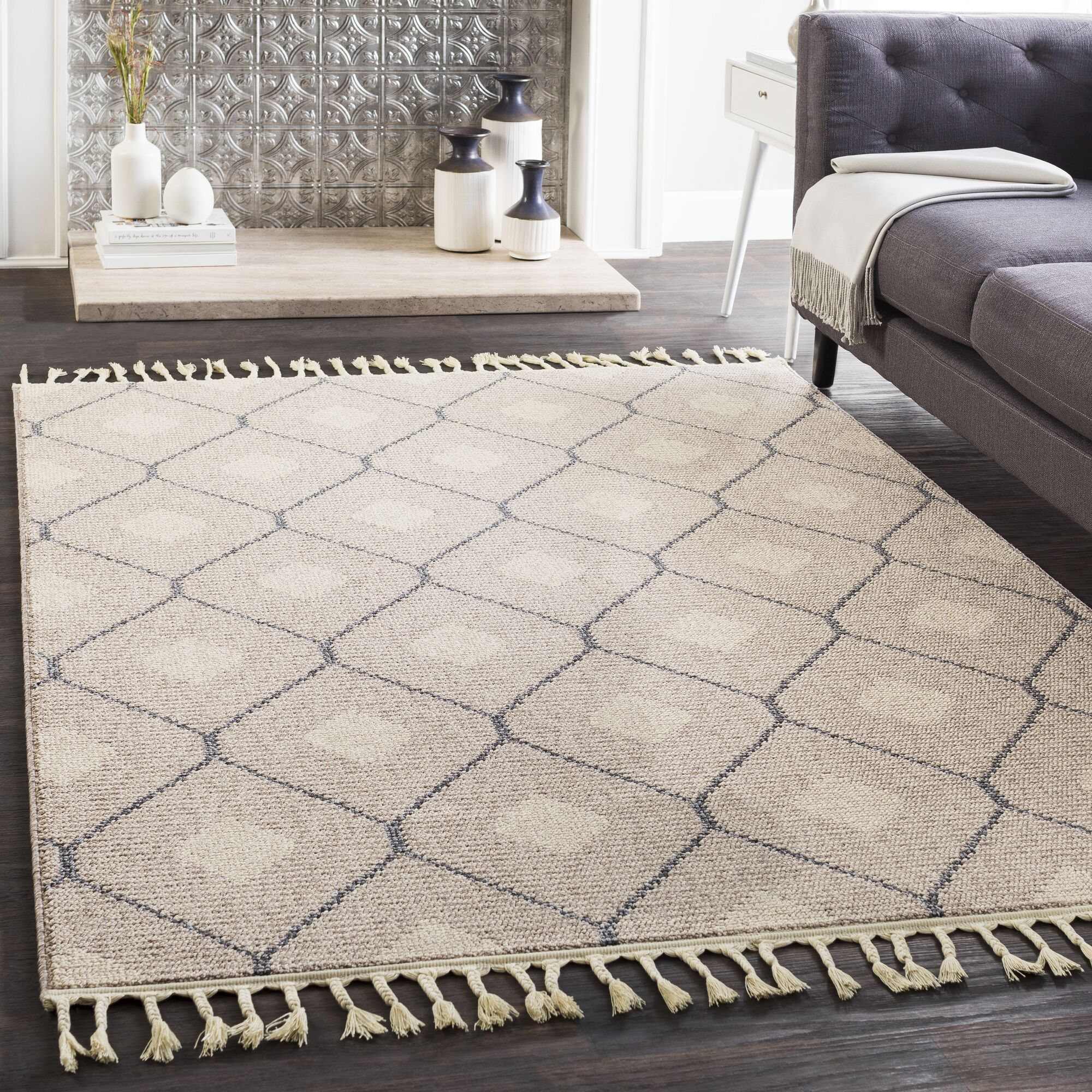 Clearwell Bohemian Taupe/Light Gray Area Rug Rug Size: Runner 2'7