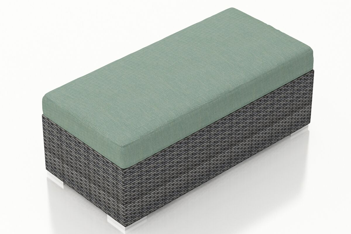 District Double Ottoman with Cushion Fabric: Canvas Spa