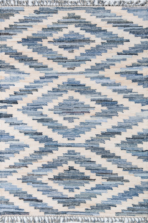 California Laguna Hand-Woven Cotton Blue Area Rug Rug Size: Rectangle 3'3