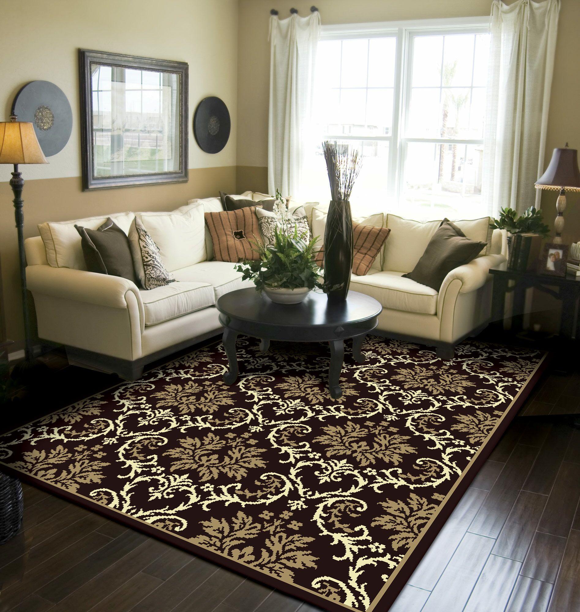 Banning Modern Black/Brown Indoor/Outdoor Area Rug Rug Size: Rectangle 8' x 11'