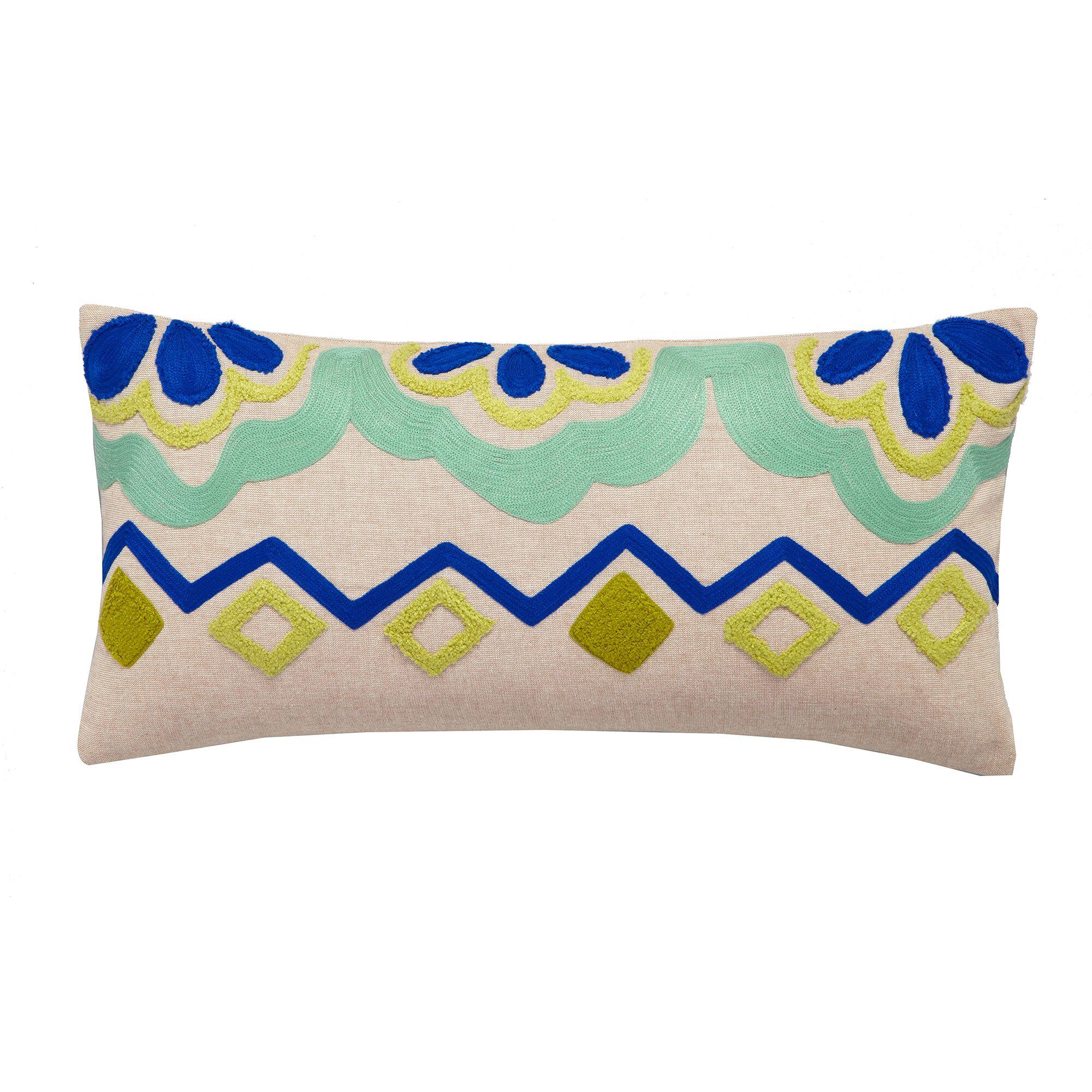 Botanical Garden Cotton Throw Pillow