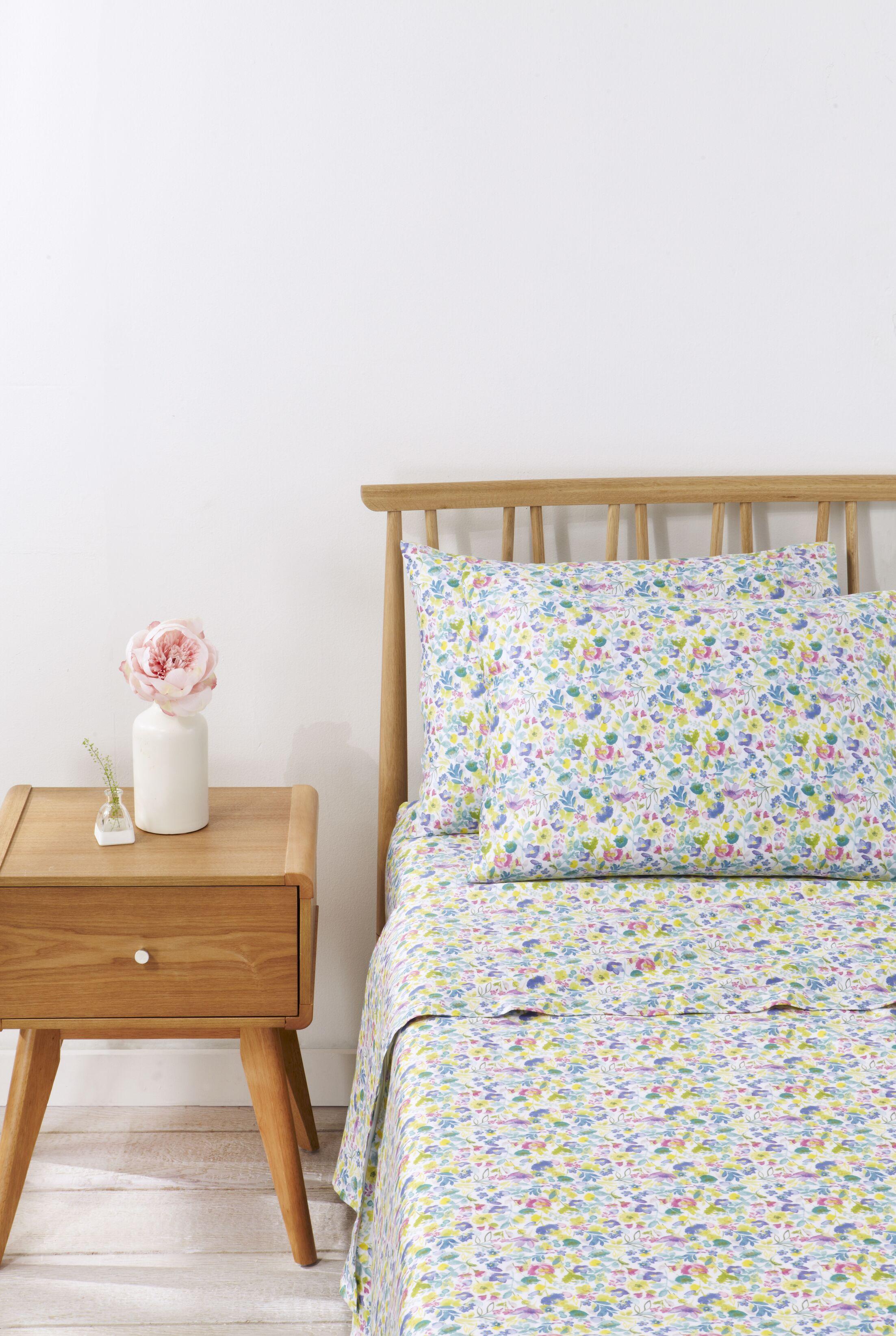 Eden Floral 100% Cotton Sheet Set Size: Full
