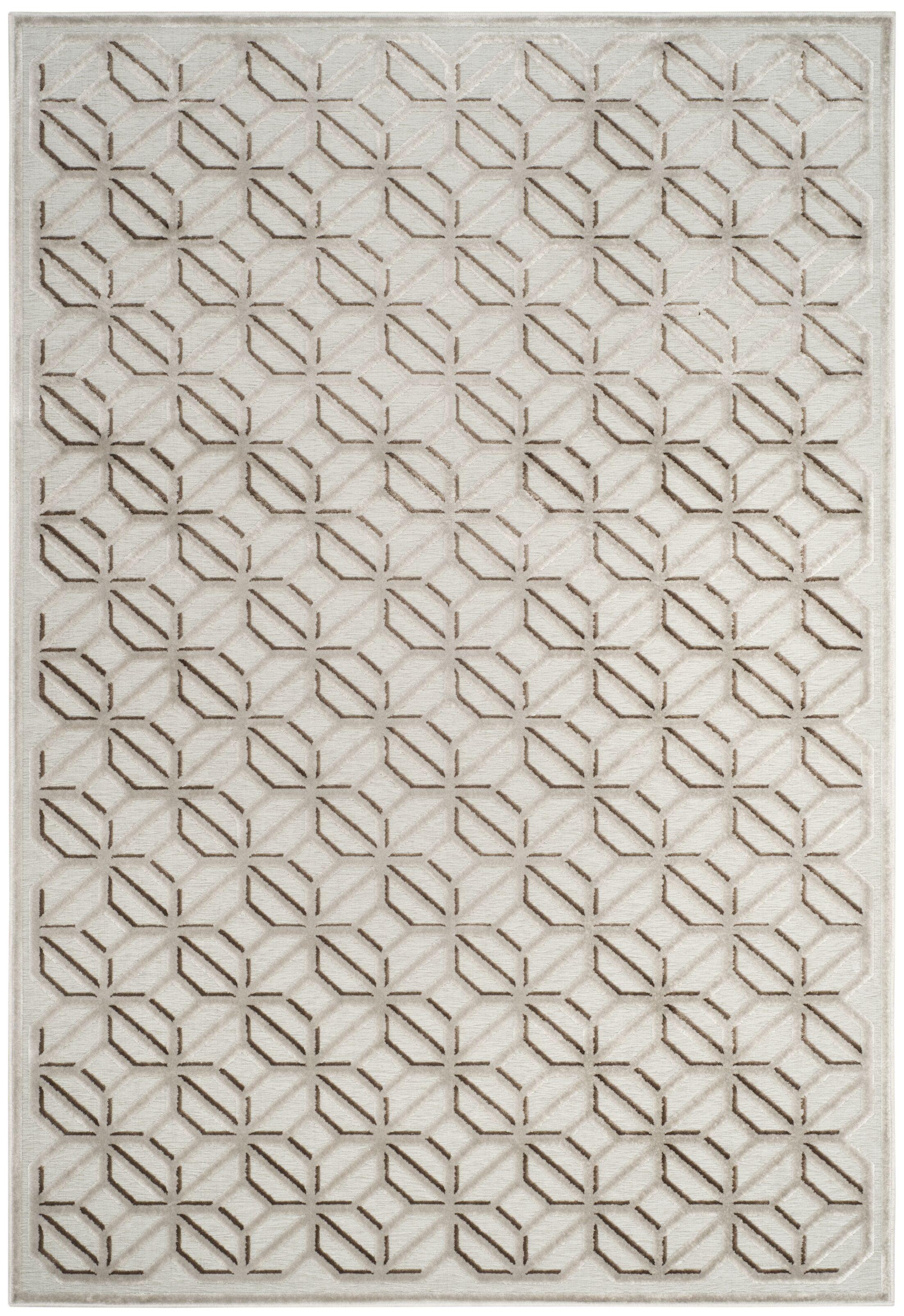 Ezzell Ivory Area Rug Rug Size: Rectangular 9' x 12'