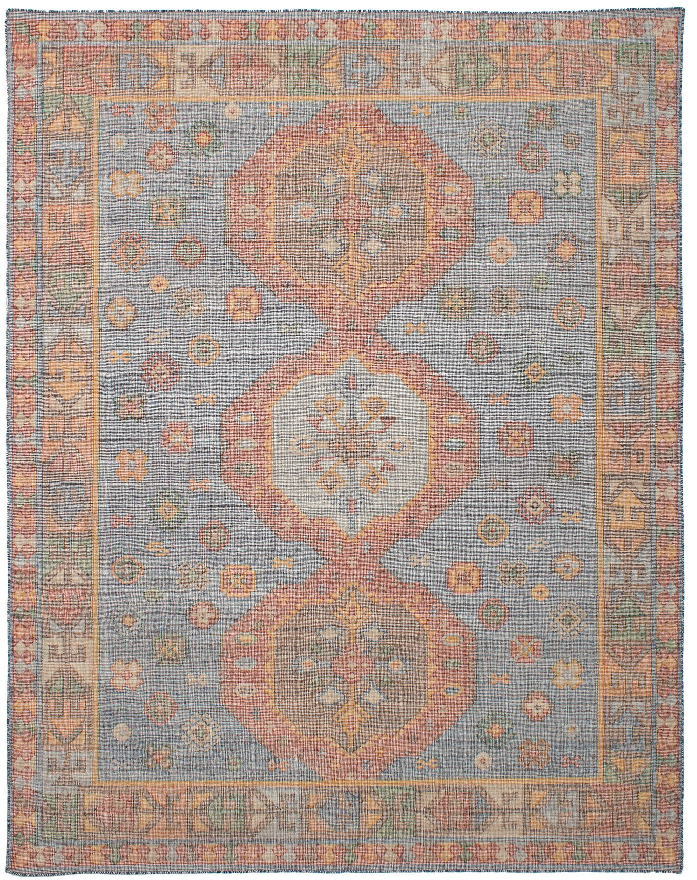 Bevers Hand Flat Woven Wool Blue Area Rug Rug Size: Rectangle 8'0