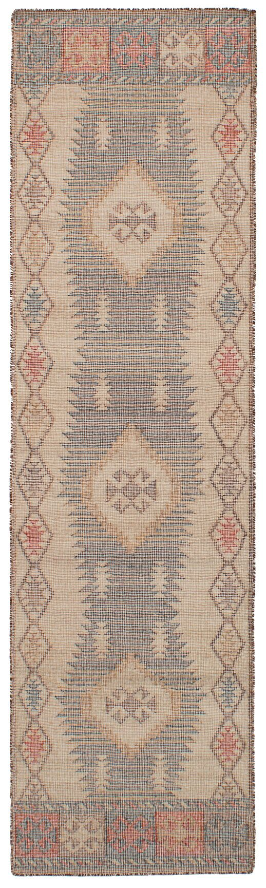 Bevers Hand-Woven Wool Brown/Cream Area Rug Rug Size: Runner 2'6