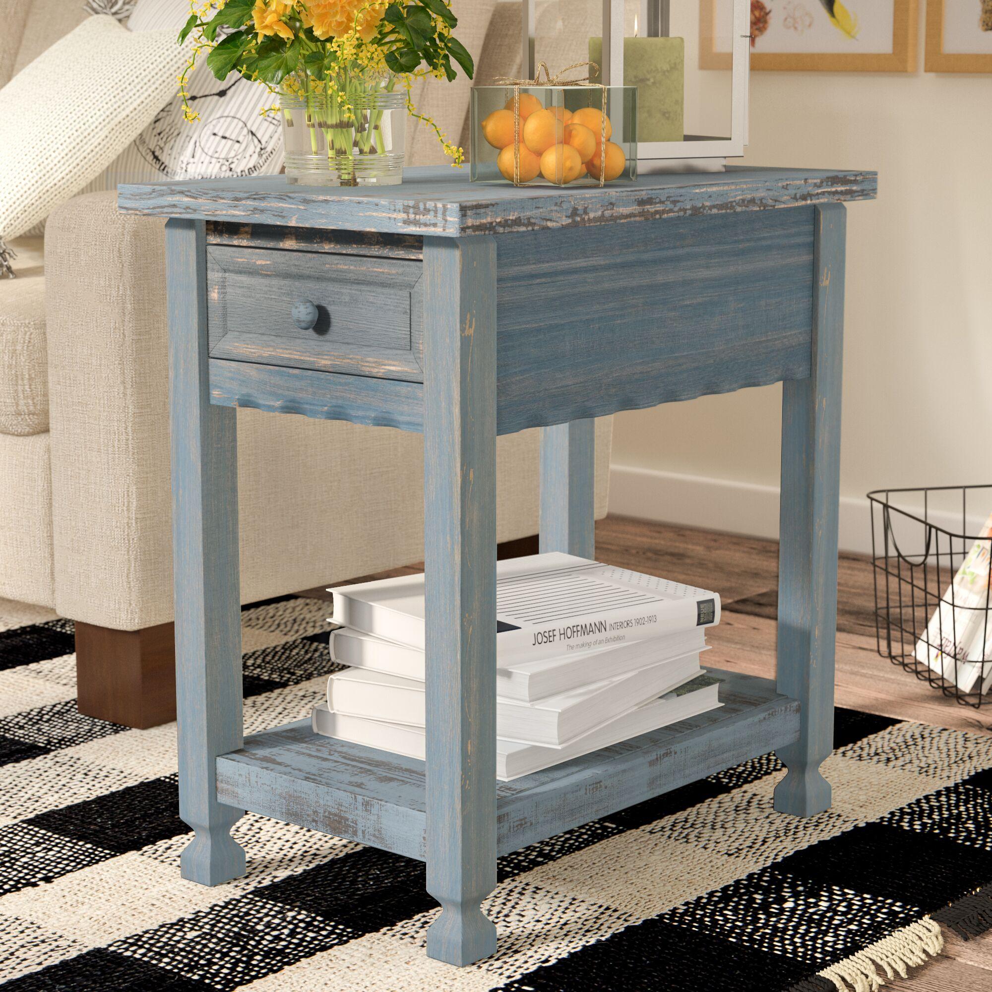 Mangum End Table Color: Blue