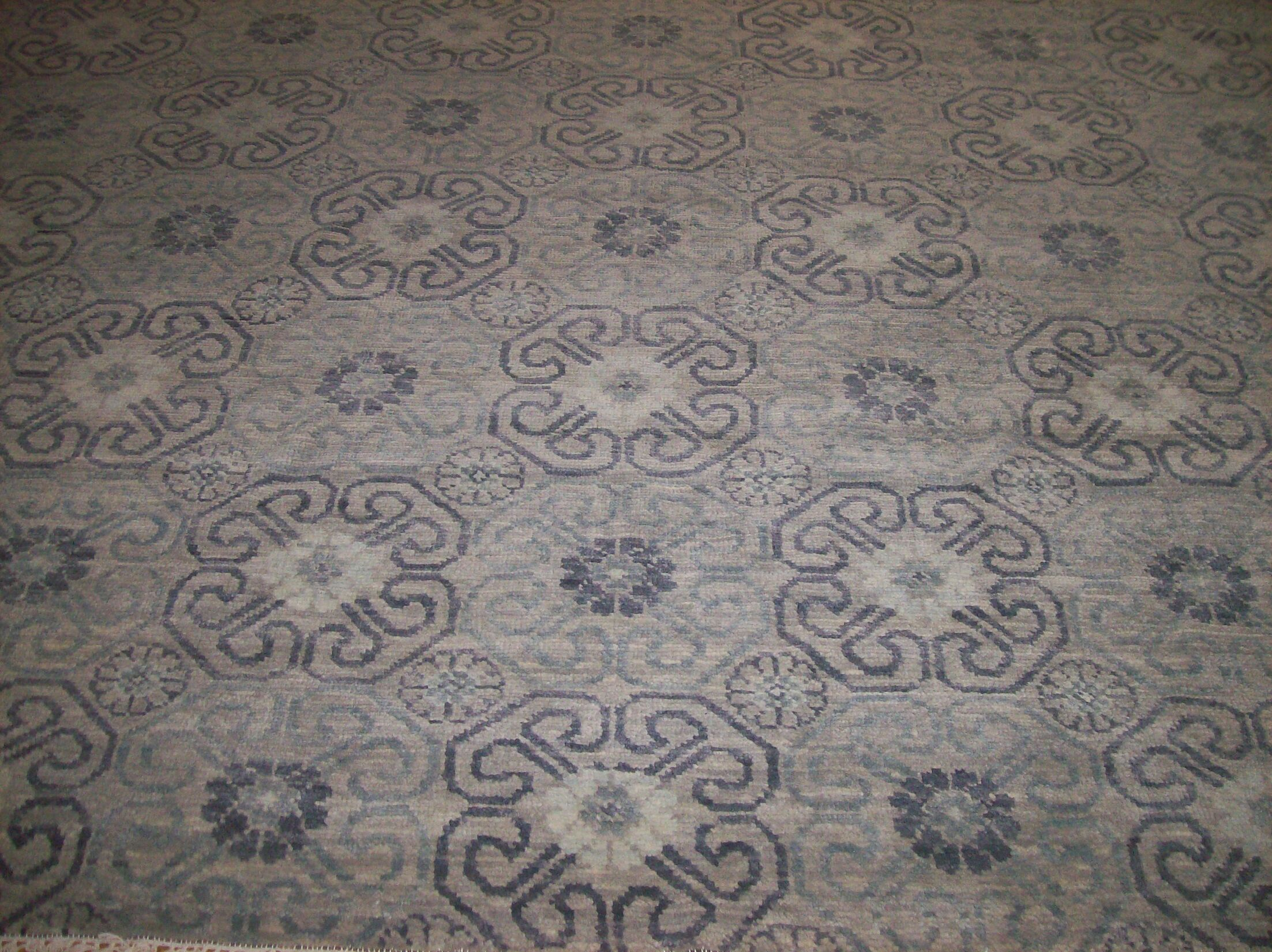 One-of-a-Kind Craney Hand-Woven Wool Gray Area Rug