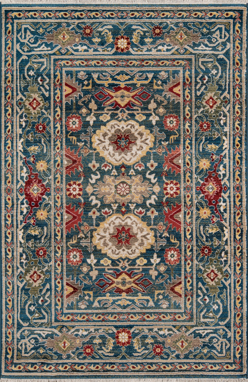 Ebner Blue Area Rug Rug Size: Rectangle 3'9
