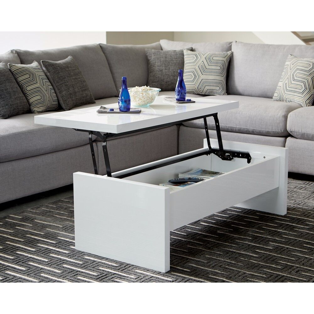Uller Glossy Lift Top Coffee Table
