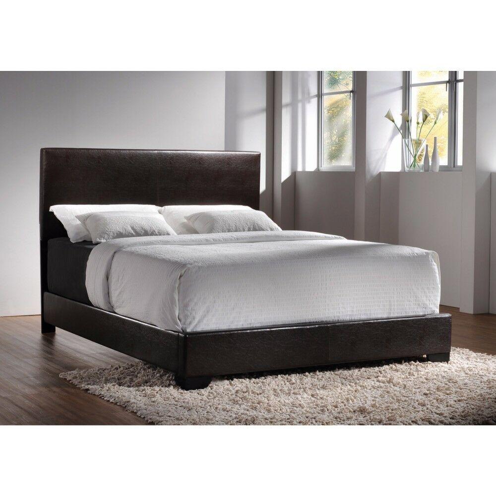 Greylock Queen Upholstered Platform Bed Color: Brown