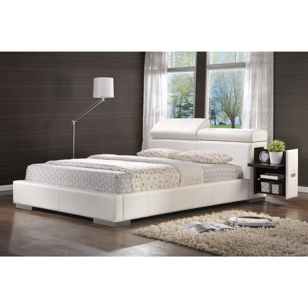 Peace Comfy Leatherette Queen Upholstered Sleigh Bed