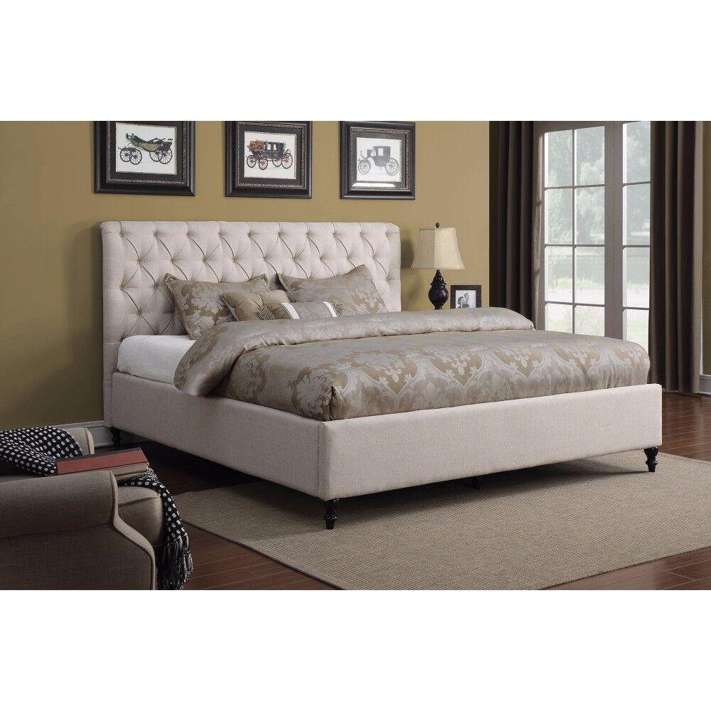 Layden Modish Queen Upholstered Sleigh Bed