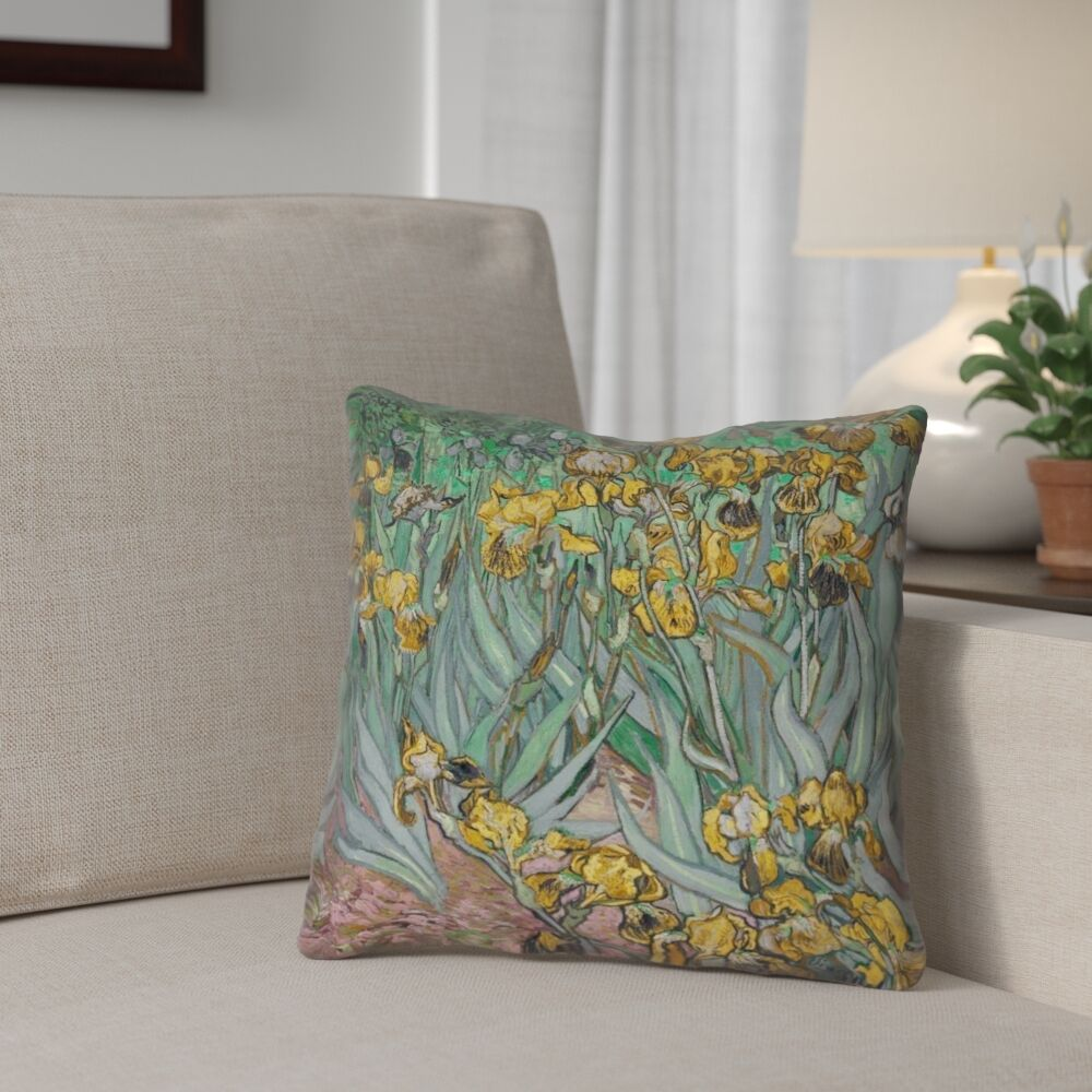 Bristol Woods Irises Double Sided Print Pillow Cover Size: 18
