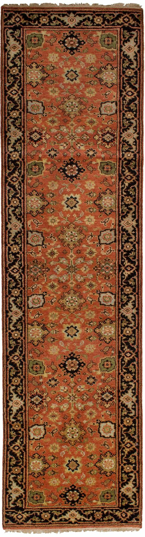 One-of-a-Kind Doerr Hand Knotted Wool Copper Area Rug Rug Size: Runner 2'7